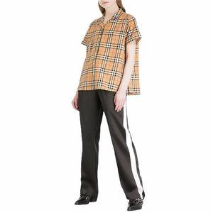 Burberry Side Stripe Straight Silk-Satin Trousers